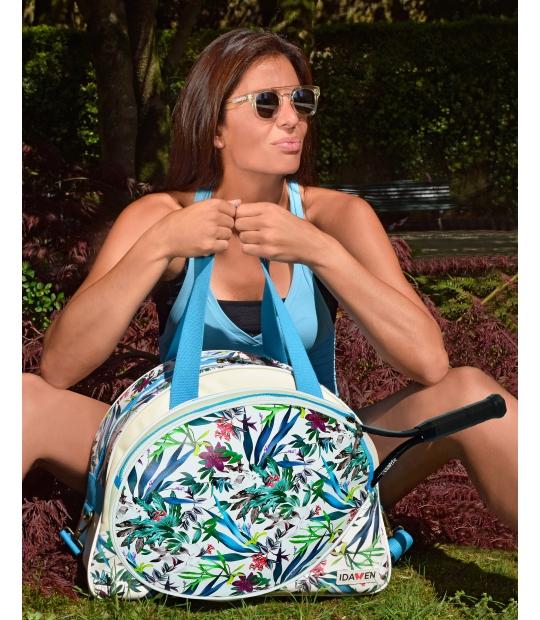 WOMEN TENNIS BAG FLORAL PRINT TENNIS BAGS - Moda Athleisure