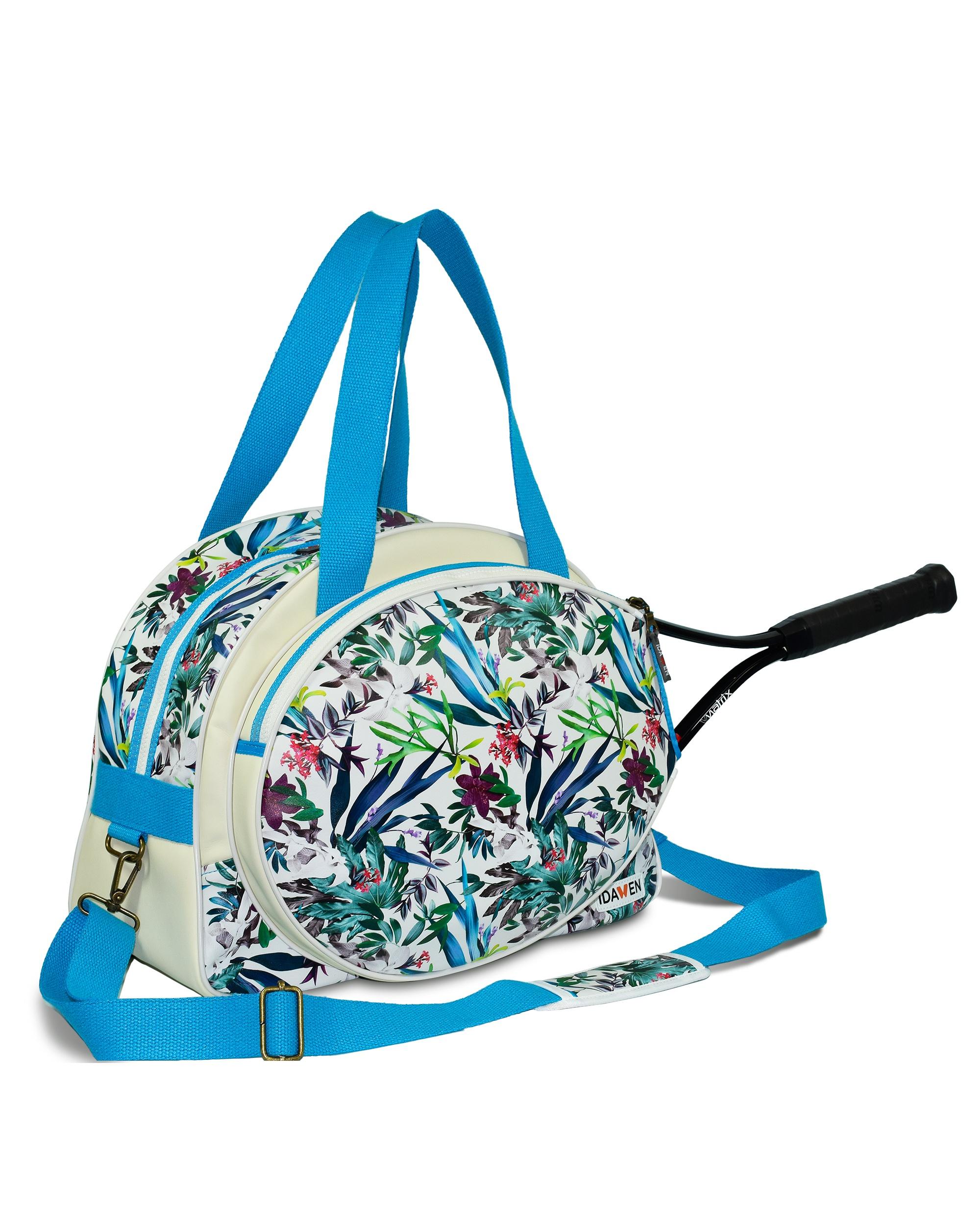 Women Tennis Bag Fl Print Bags Moda Athleisure