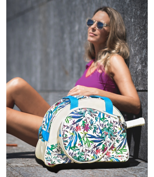 POPTENNIS BAG FLORAL PRINT PADDLE BAGS CE IDAWEN - Woman and