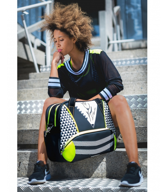 WOMEN TENNIS BAG GEOMETRIC - TENNIS BAGS - IDAWEN fashion