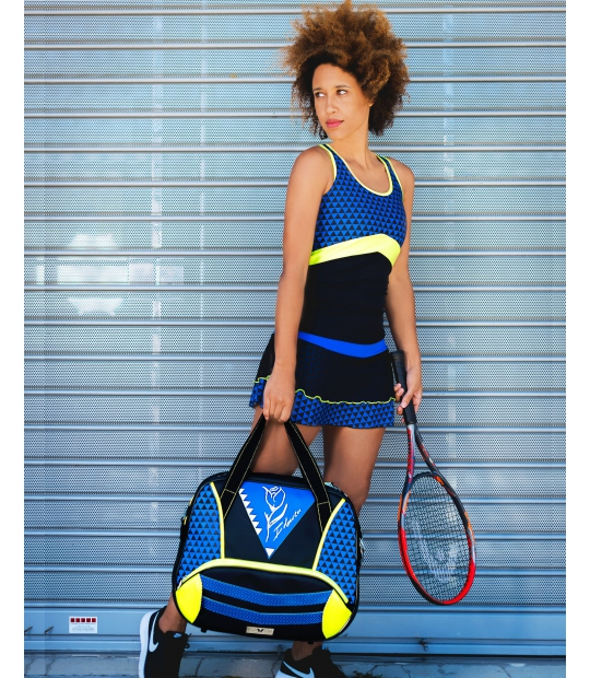 WOMEN TENNIS BAG GEOMETRIC KLEIN