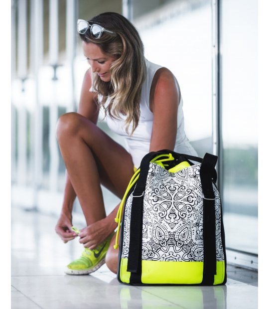 YOGA BACKPACK NEON IDAWEN YOGA BAGS CE IDAWEN - Woman and