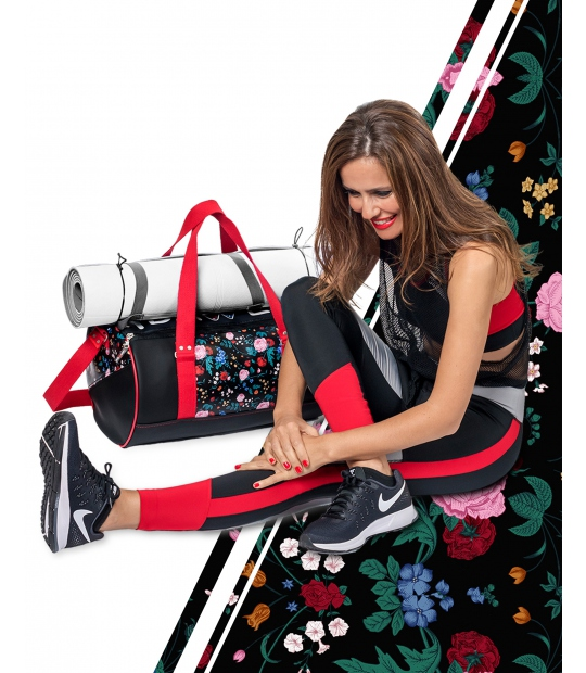 YOGA DAFFLE BAG FLORAL PRINT - YOGA BAGS - IDAWEN fashion