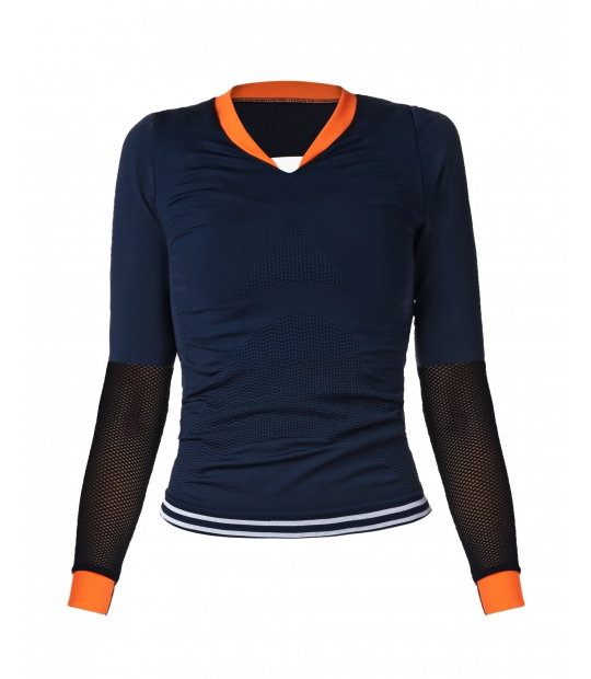 SPORTS TOP SEAMLESS NAVY