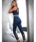 LEGGING SEAMLESS NAVY - LEGGINGS - IDAWEN fashion Athleisure