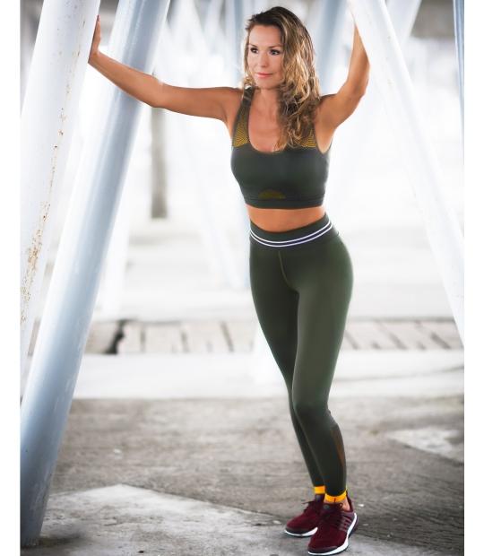LEGGINGS SEAMLESS GREEN LEGGINGS CE IDAWEN - Woman and Fashion