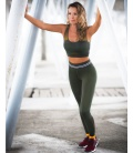 IDAWEN - LEGGINGS SEAMLESS ATHLEISURE VERDE CAZA - LEGGINGS -