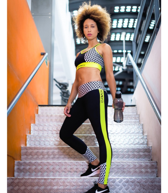 IDAWEN - LEGGINGS ATHLEISURE BLANCO Y NEGRO - LEGGINGS -