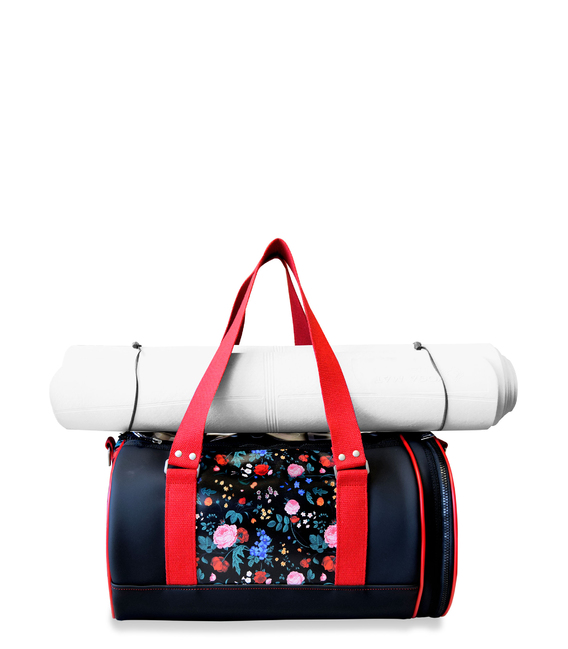 YOGA DUFFLE BAG FLORAL PRINT YOGA BAGS CE IDAWEN - Woman and