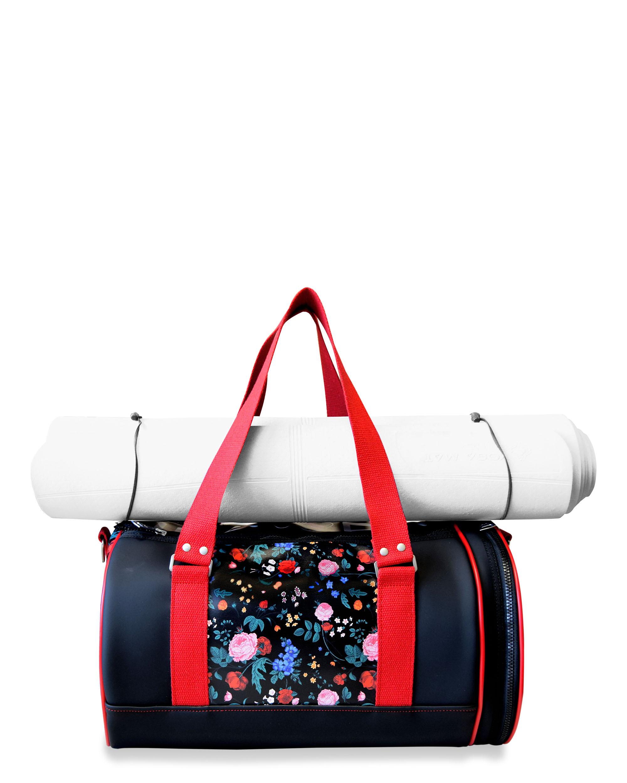 Yoga Duffle Bag Fl Print Bags Ce Idawen Woman And