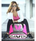 WOMEN TENNIS BAG PINK AND GREY