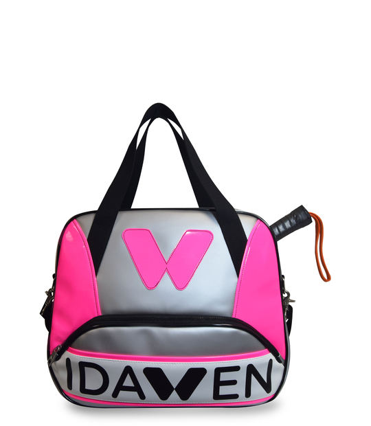 PADEL TOTE BAG PINK AND GREY