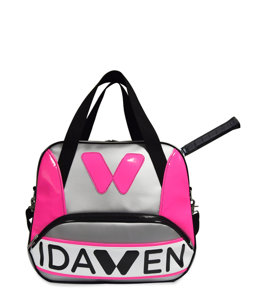 WOMEN TENNIS BAG PINK AND GREY