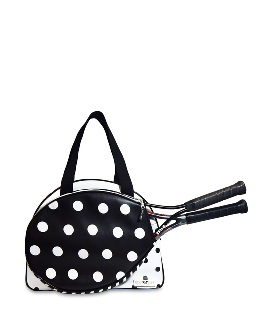 WOMEN TENNIS BAG POLKA DOTS