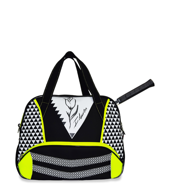WOMEN TENNIS BAG GEOMETRIC TENNIS BAGS CE IDAWEN - Woman and