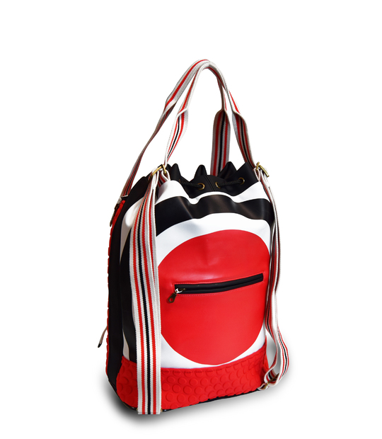 YOGA BACKPACK WITH EMBROIDERY YOGA BAGS CE IDAWEN - Woman and