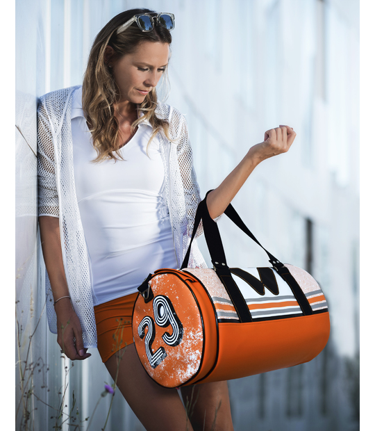DUFFLE SPORT BAG ORANGE GYM BAGS CE IDAWEN - Woman and Fashion