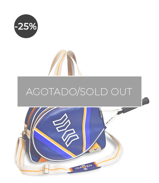 WOMEN TENNIS BAG ORANGE AND BLUE