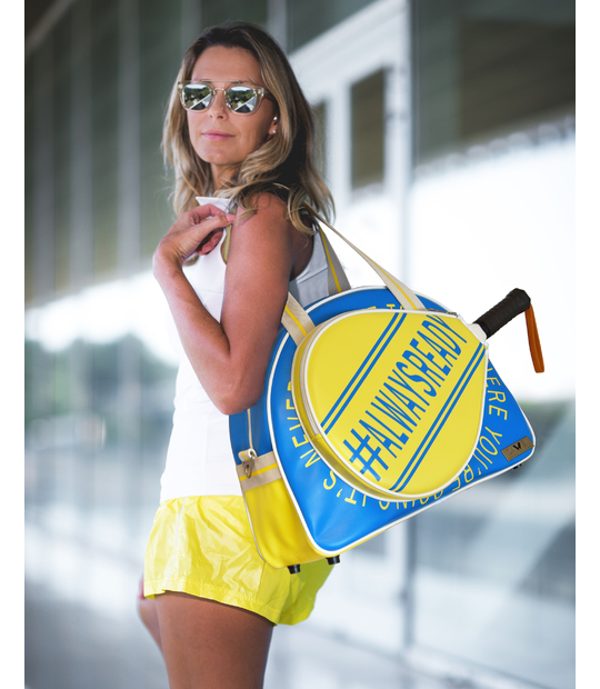 WOMEN PADEL BAG BLUE PADDLE BAGS CE IDAWEN - Woman and Fashion