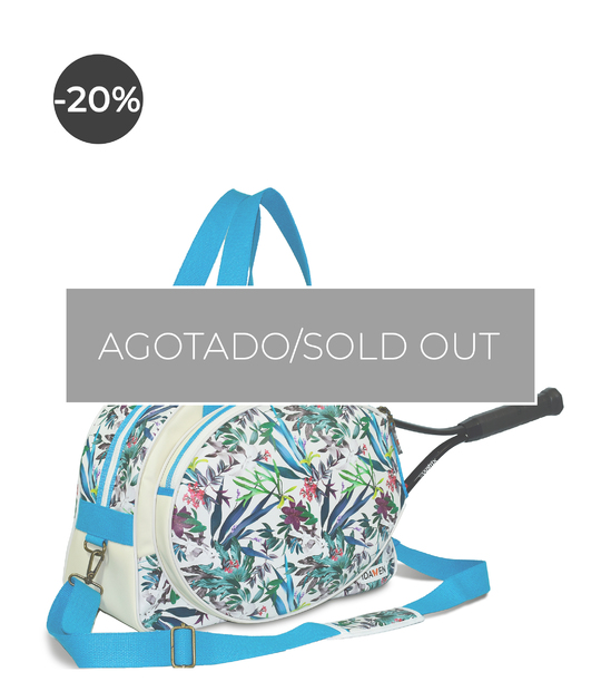 WOMEN TENNIS BAG FLORAL PRINT