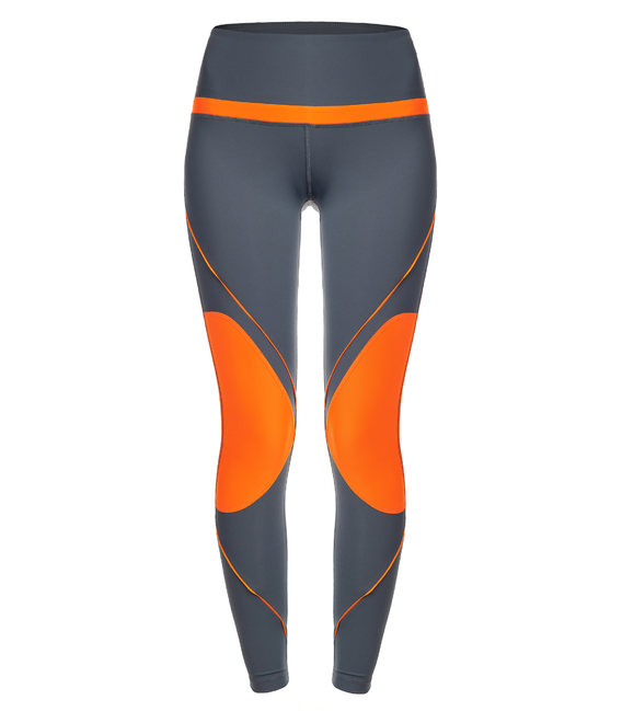 WOMAN LEGGINGS GREY AND ORANGE LEGGINGS CE IDAWEN - Woman and