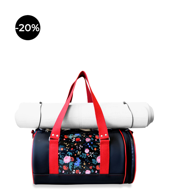YOGA DAFFLE BAG FLORAL PRINT - YOGA BAGS - IDAWEN fashion