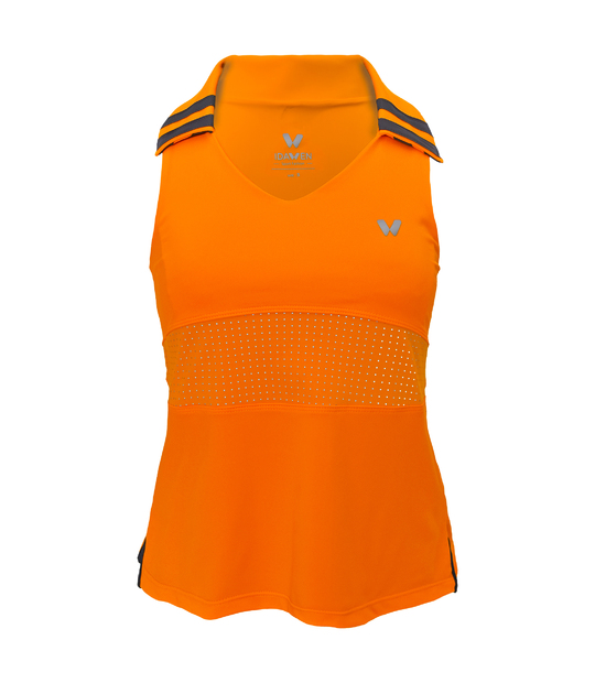 SPORT TSHIRT WOMAN ORANGE SPORTS BRAS AND TOPS CE IDAWEN -