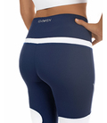 SPORT LEGGING FOR WOMAN, BLUE AND WHITE
