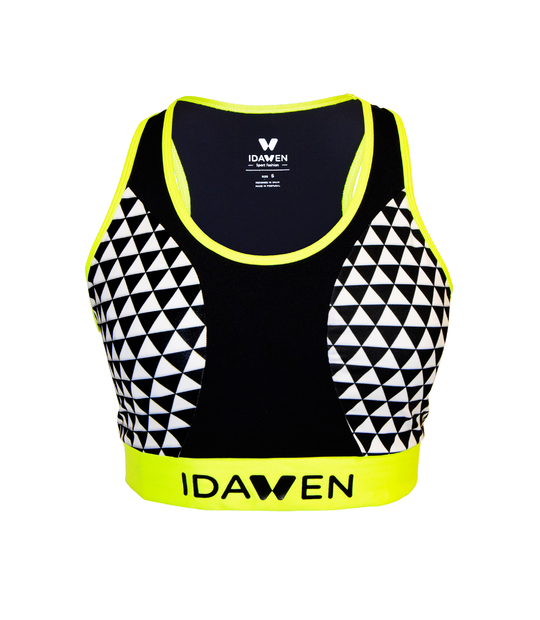 SPORTS BRA WHITE AND BLACK SPORTS BRAS AND TOPS CE IDAWEN -