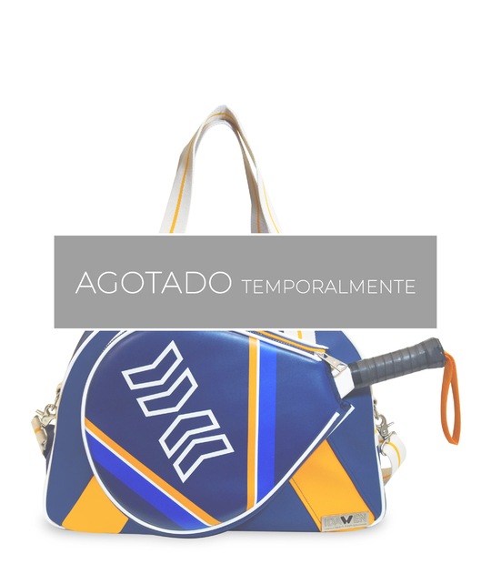 PADEL BAG ORANGE AND BLUE