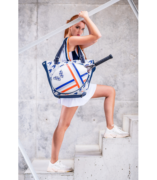 TENNIS BAG FOR WOMAN HOUNDSTOOTH PRINT