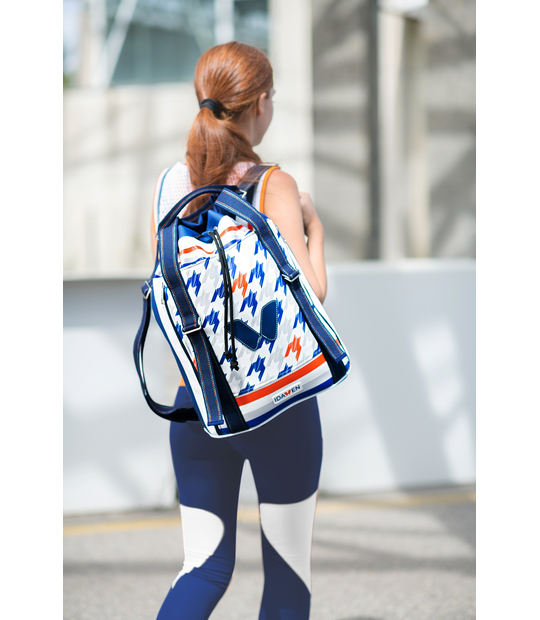 WOMEN FITNESS BACKPACK IDAWEN HOUNDSTOOTH PRINT