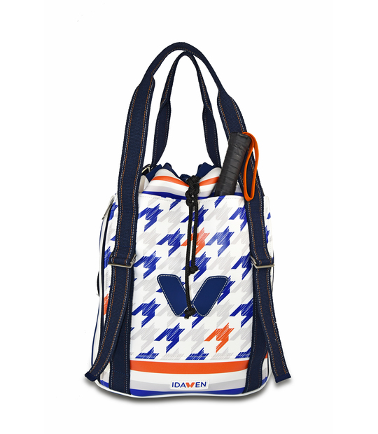 WOMEN SPORTY BACKPACK HOUNDSTOOTH