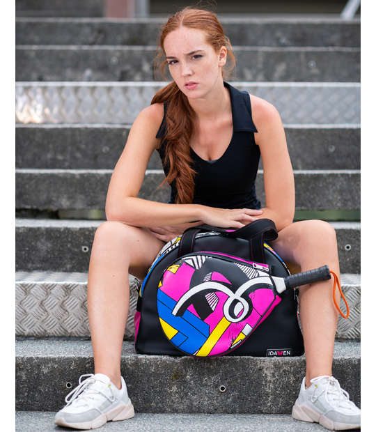 WOMEN PADEL BAG PINK AND BLACK