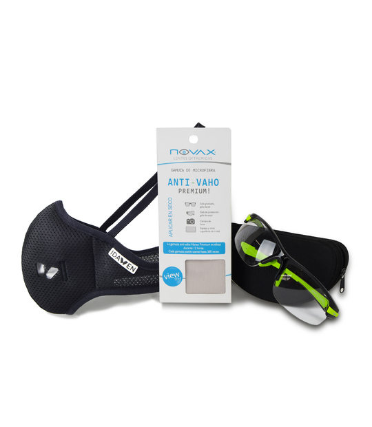 PACK SUEDE + SPORTS MASK WITH VIRICIDE FILTER PROVEIL-CSIC BLACK