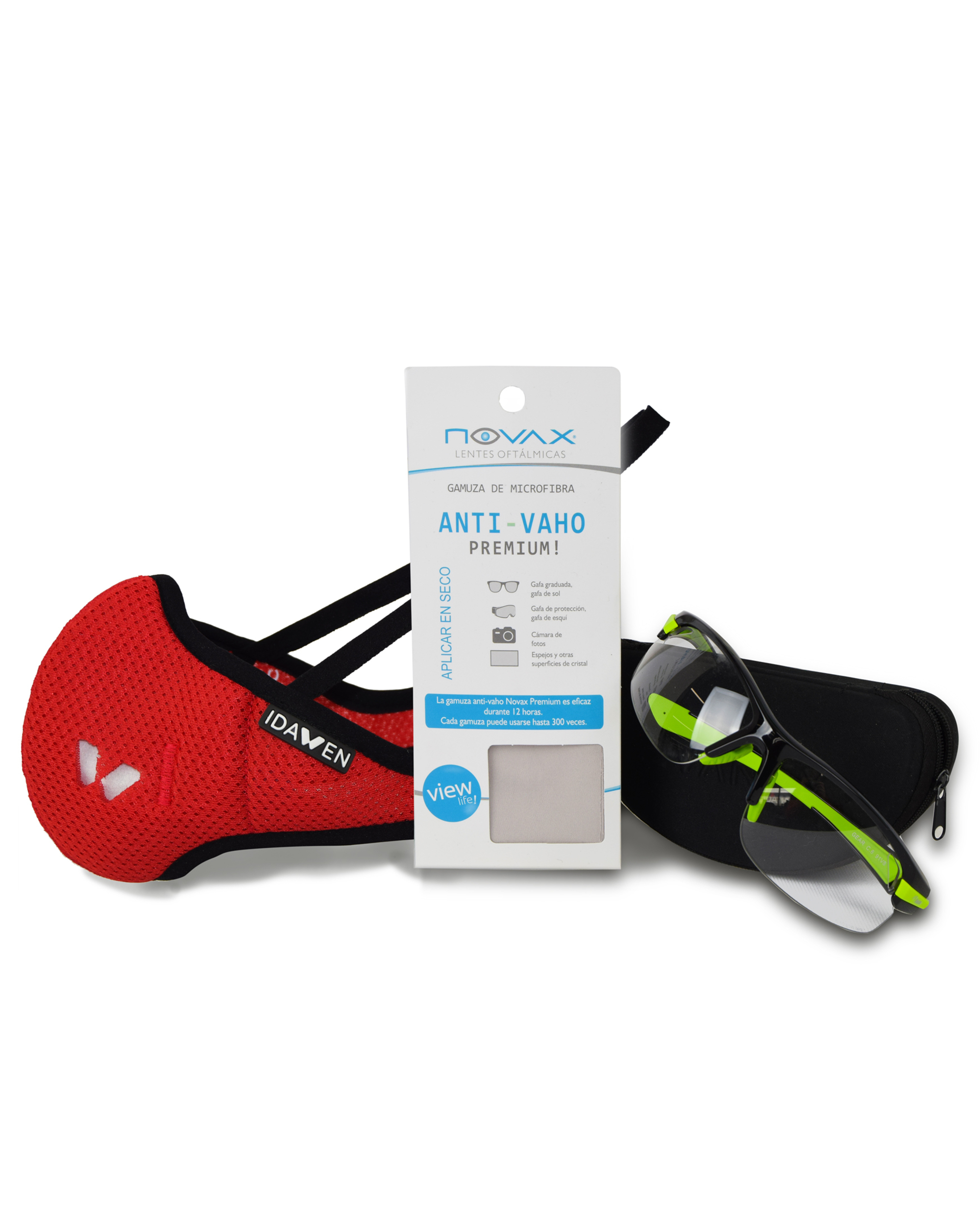 PACK SUEDE + SPORTS MASK WITH VIRICIDE FILTER PROVEIL-CSIC RED