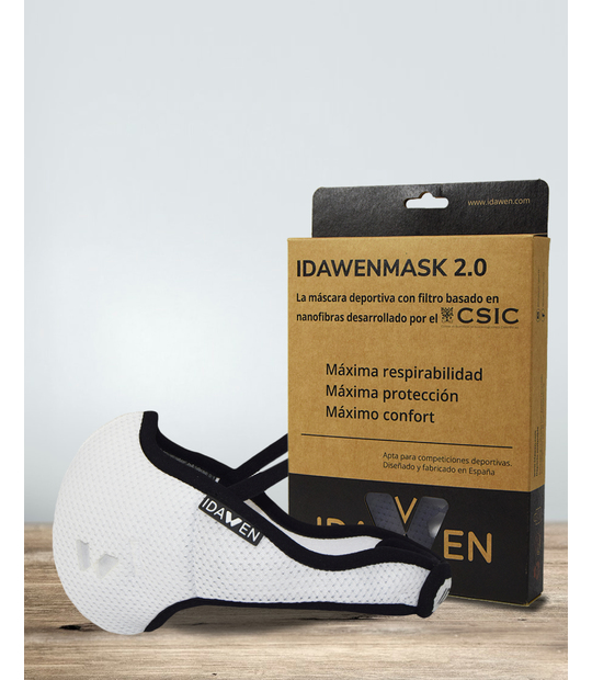 PACK SUEDE + SPORTS MASK WITH VIRICIDE FILTER PROVEIL-CSIC WHITE