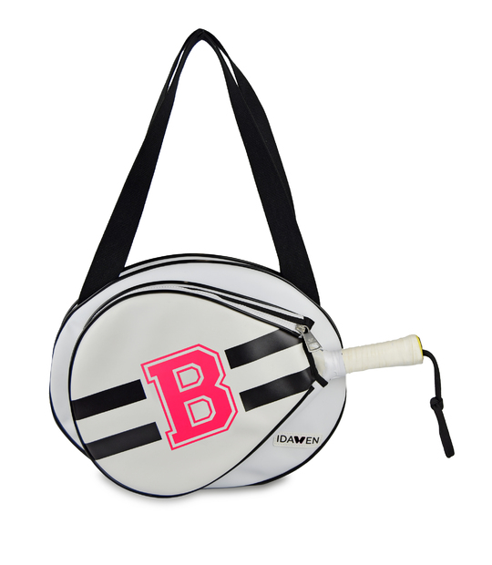 MEDIUM CUSTOMIZABLE BLACK AND WHITE PADEL TENNIS BAG