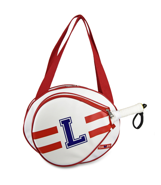 MEDIUM CUSTOMIZABLE RED AND WHITE PADEL TENNIS BAG