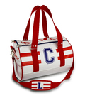 CUSTOMIZABLE DUFFLE BAG UNISEX RED AND WHITE