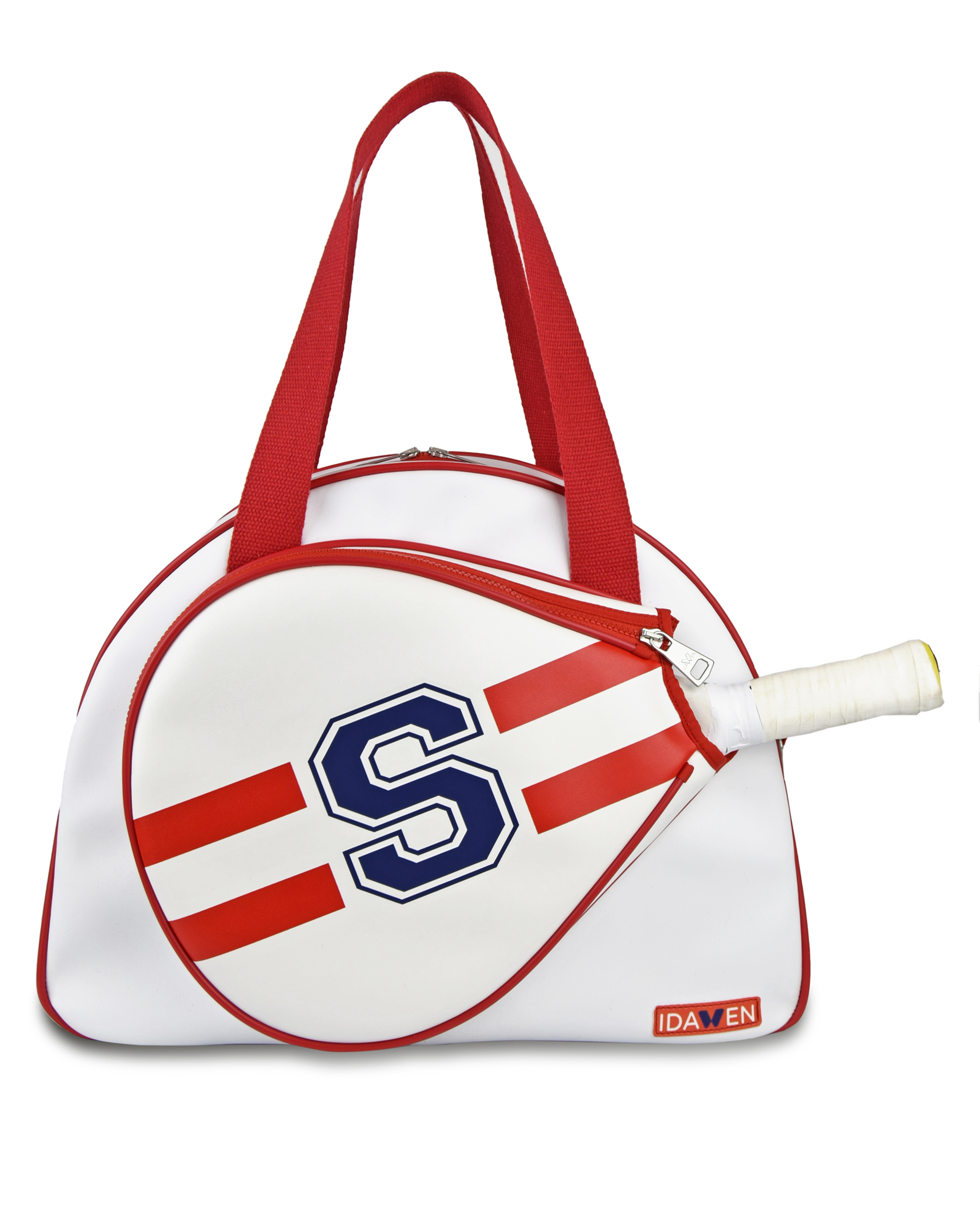 CUSTOMIZABLE RED AND WHITE PADEL TENNIS BAG
