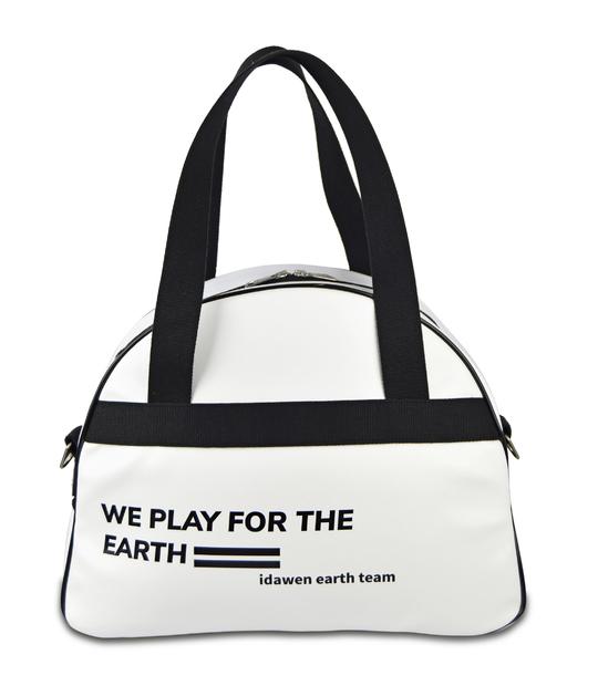 CUSTOMIZABLE BLACK AND WHITE TENNIS BAG