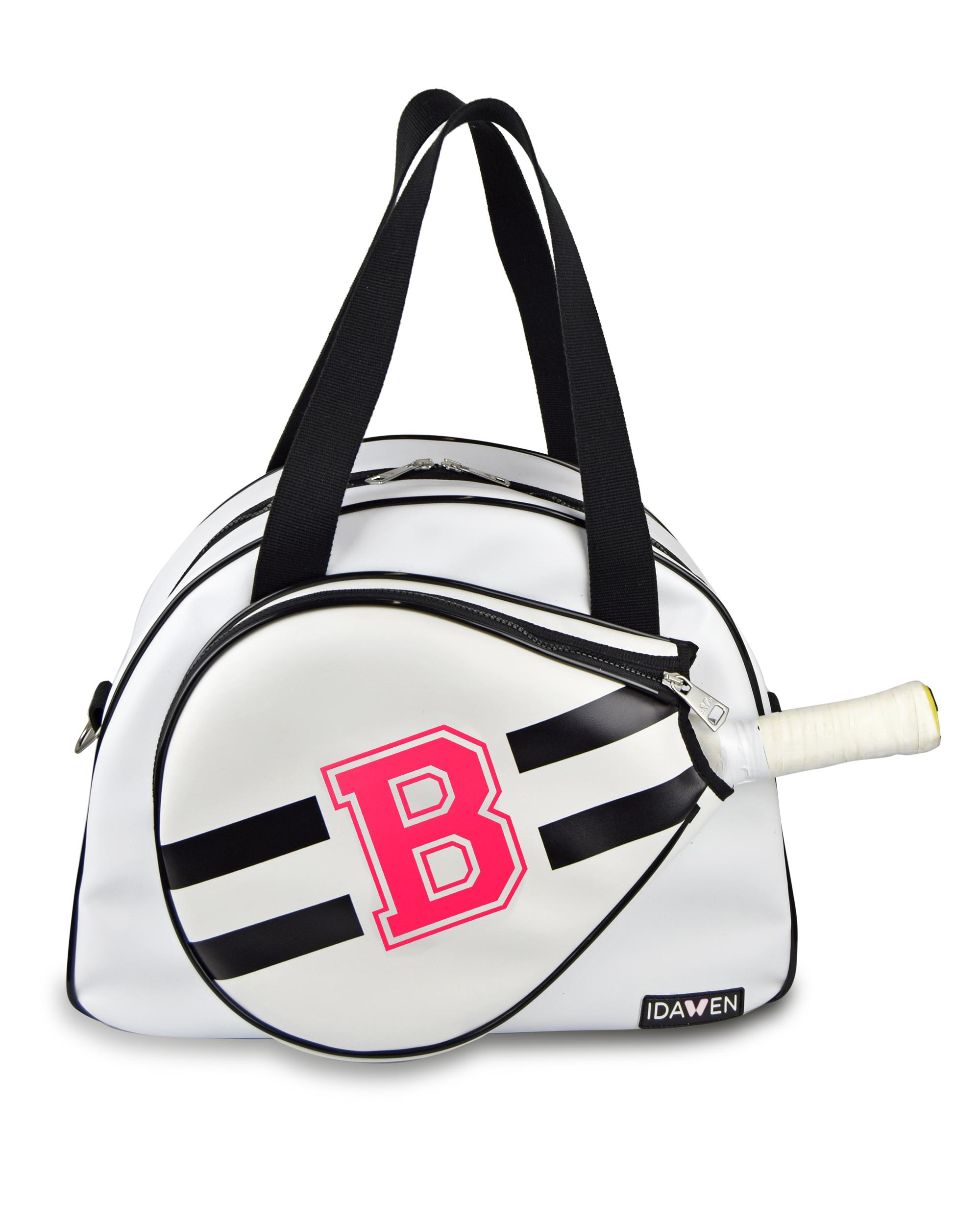 CUSTOMIZABLE BLACK AND WHITE PADEL TENNIS BAG