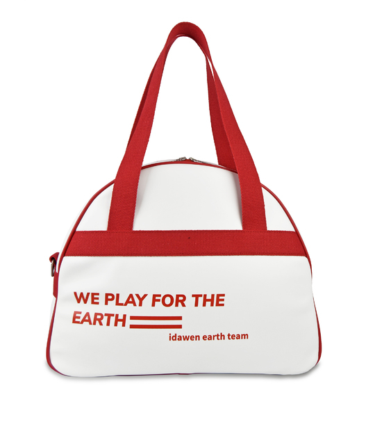 CUSTOMIZABLE RED AND WHITE TENNIS BAG