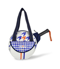 SMALL PADDLE TENNIS BAG HOUNDSTOOTH PRINT