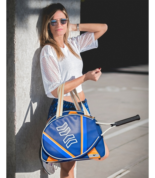 WOMEN TENNIS BAG ORANGE AND BLUE TENNIS BAGS - Moda Athleisure