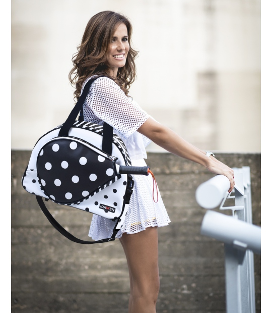 WOMEN PADEL BAG POLKA DOTS PADDLE BAGS CE IDAWEN - Woman and